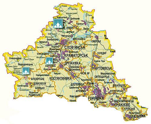 На странице карта Святогорска